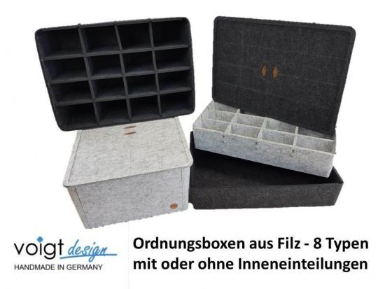 Ordnungsbox Deckel FILZ Korb Aufbewahrung Regal Schublade Schrank 4 Ausführungen 2 Farben
