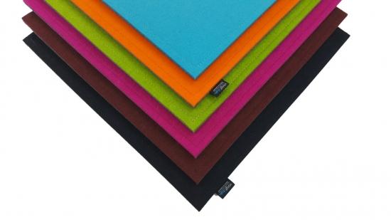 Sitzauflage aus Wollfilz, eckig, 35x35cm, bicolor