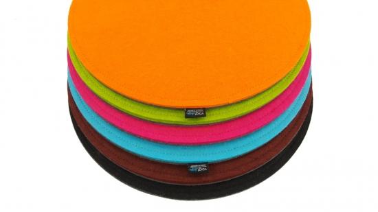 Sitzauflage aus Wollfilz, rund, D35cm, bicolor